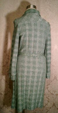Vintage Gino Paoli green & silver metallic sweater dress made in italy (5)