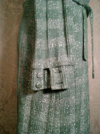 Vintage Gino Paoli green & silver metallic sweater dress made in italy (4)