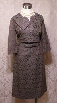 Cohen Bros. Style vintage 1960s 2 piece dress suit bolero jacket (5)