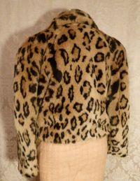 Vintage 1980s faux leopard fur short cropped coat (3)