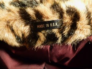 Vintage 1980s faux leopard fur short cropped coat (5)