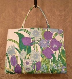 Margaret Smith purple tulips vtg bag 003