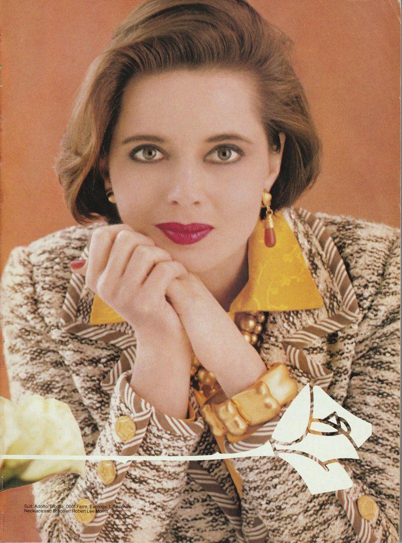 Victoria sept 1990 lancome ad Isabella Rosselini