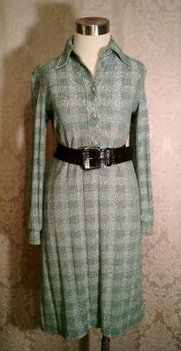 Vintage Gino Paoli green & silver metallic sweater dress made in italy (6)