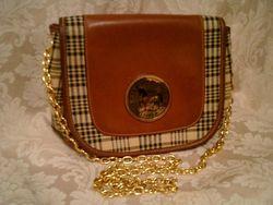 5A Baker Blankets sheet plaid leather shoulder bag