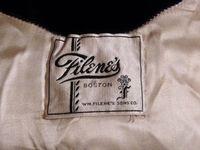 1930s vintage Filene's blue velvet hooded robe dressing gown