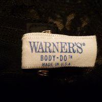 1950s Warner's Body Do Black Lace Bullet Bra (1)