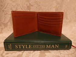 Polo Ralph Lauren  tan leather bifold mens wallet & card holder (5)