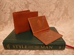 Polo Ralph Lauren  tan leather bifold mens wallet & card holder (7)