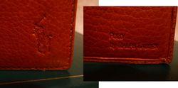 Polo Ralph Lauren  tan leather bifold mens wallet & card holder (10) jpg