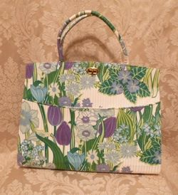 Margaret Smith purple tulips vtg bag 007