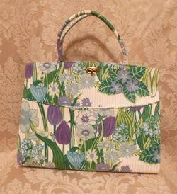 Margaret Smith purple tulips vtg bag 007