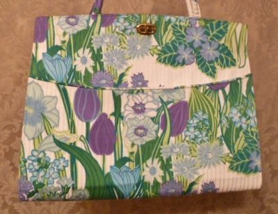 Margaret Smith purple tulips vtg bag 002