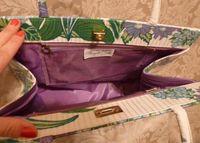 Margaret Smith purple tulips vtg bag 009
