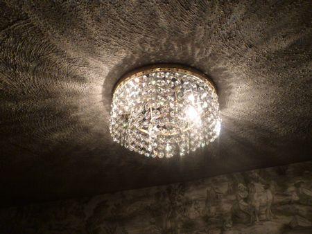 1930s Art Deco Lightolier 3 tier crystal chandelier (13)