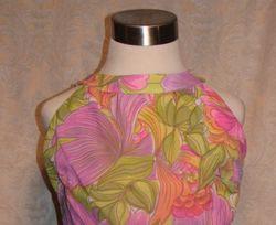Vintage 1960s Haute Couture Collection Sea Queen bathing swim suit lavender lime floral  (7)