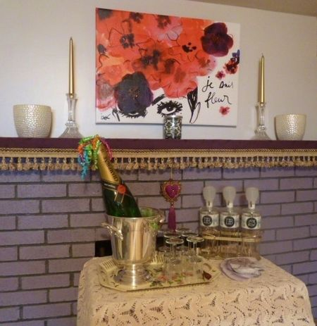 The Red Velvet Shoe fireplace makeover pictures (13)