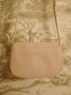 Vintage Christian Dior Pale Pink Ivory Leather cross body shoulder bag (4)