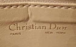 Vintage Christian Dior Pale Pink Ivory Leather cross body shoulder bag (6)
