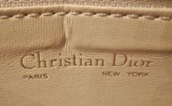 Vintage Christian Dior Pale Pink Ivory Leather cross body shoulder bag (6)