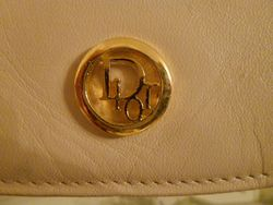 Vintage Christian Dior Pale Pink Ivory Leather cross body shoulder bag (3)