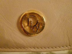 Vintage Christian Dior Pale Pink Ivory Leather cross body shoulder bag (3)