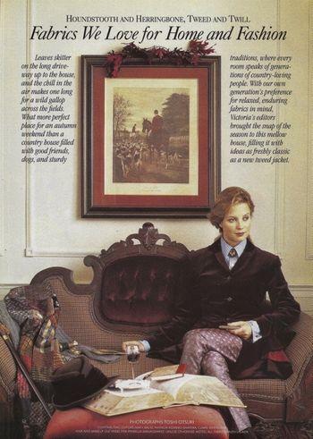 1 Victoria Magazine November 1996 featuring Ralph Lauren fabrics (570x800)