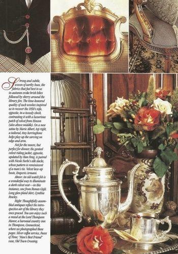 2 Victoria Magazine November 1996 featuring Ralph Lauren fabrics