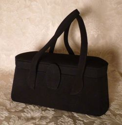 1940s Romay Black Suede purse (2)