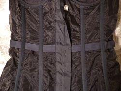 1940s Nelie Bologna black lace front hook long line bustier  (2)