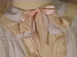 1940s Lingerie by Debutante lavender blue  silk & lace boudoir bed jacket (17)