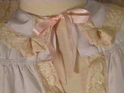 1940s Lingerie by Debutante lavender blue  silk & lace boudoir bed jacket (17)