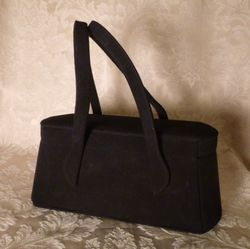 1940s Romay Black Suede purse (3)