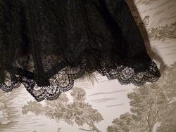 1940s Nelie Bologna black lace front hook long line bustier  (6)