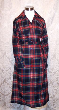 Vintage Viyella Wool Plaid Shirt Dress Fredrick Howard of London (3)