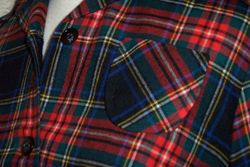 Vintage Viyella Wool Plaid Shirt Dress Fredrick Howard of London (7)