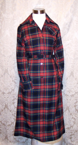 Vintage Viyella Wool Plaid Shirt Dress Fredrick Howard of London (3)