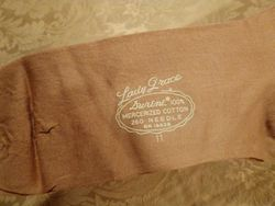 1920s vintage Lady Grace Durene Mercerized Cotton 260 Needle Stockings 004