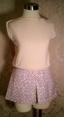 Vintage 1950s pin up girl front zipper shorts culottes (8)