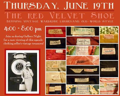 The red velvet shoe vintage clothing trunk show the arcade providence carmen and ginger