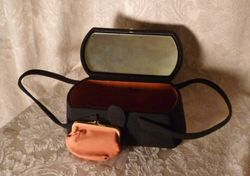 1940s Romay Black Suede purse (5)