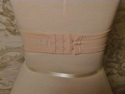 1980s Vanity Fair Flesh Tone Strapless Lace Bra 34B  (4)