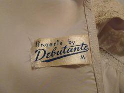 1940s Lingerie by Debutante lavender blue  silk & lace boudoir bed jacket (10)