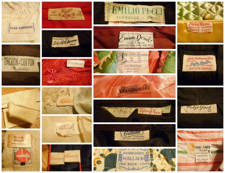 Vintage labels collage