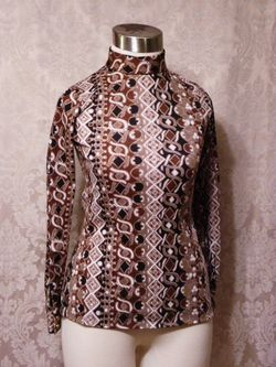 1960s Saks Fifth Avenue Pucci-esque tunic top
