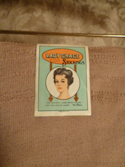 1920s vintage Lady Grace Durene Mercerized Cotton 260 Needle Stockings 006