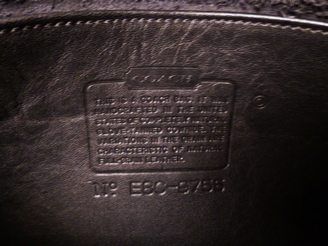 Vintage Coach 9755 black Penny Pocket Crossbody leather bag purse Made in USA (1)