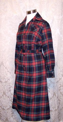 Vintage Viyella Wool Plaid Shirt Dress Fredrick Howard of London (6)