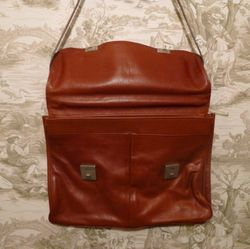 MEB Collection Cognac Leather double gusset briefcase (9)