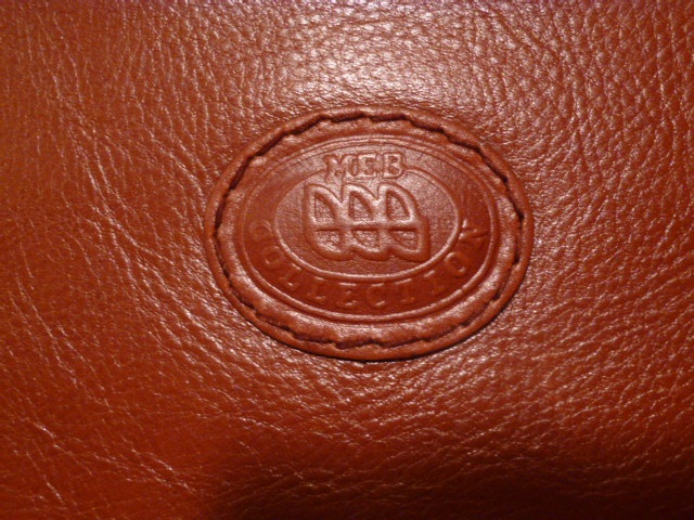 MEB Collection Cognac Leather double gusset briefcase (4)